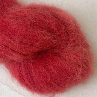 Boötes - Mid- to dark red suri alpaca luxury yarn. Hand-dyed by Triskelion Yarn