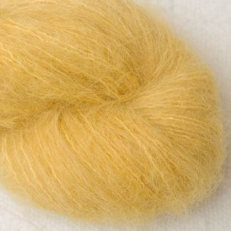 Indian Summer - Light sunny yellow suri alpaca luxury yarn. Hand-dyed by Triskelion Yarn