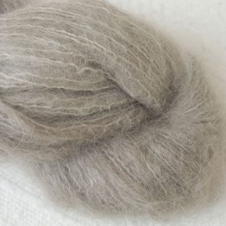 Pebble - Pale taupe suri alpaca luxury yarn. Hand-dyed by Triskelion Yarn