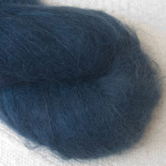 Penumbral - Cool navy blue suri alpaca luxury yarn. Hand-dyed by Triskelion Yarn