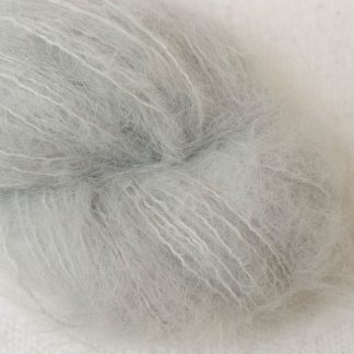 Tern - Pale cool grey suri alpaca luxury yarn. Hand-dyed by Triskelion Yarn