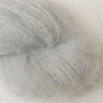 Tern - Pale cool grey suri alpaca luxury yarn. Hand-dyed by Triskelion Yarn