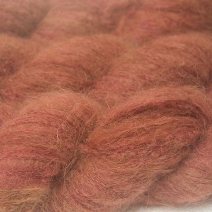 Rick's Autumn - Autumnal orange red and brown suri alpaca and silk luxury heavy laceweight yarn. Hand-dyed by Triskelion Yarn