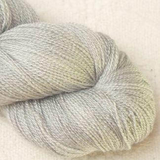 Tern - Pale cool grey Merino and silk blend lace weight yarn. Hand-dyed by Triskelion Yarn.