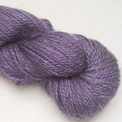 Tyrian Purple - Dark reddish purple Baby Alpaca, silk and linen Mid-toned blue violet light DK yarn. Hand-dyed by Triskelion Yarn.